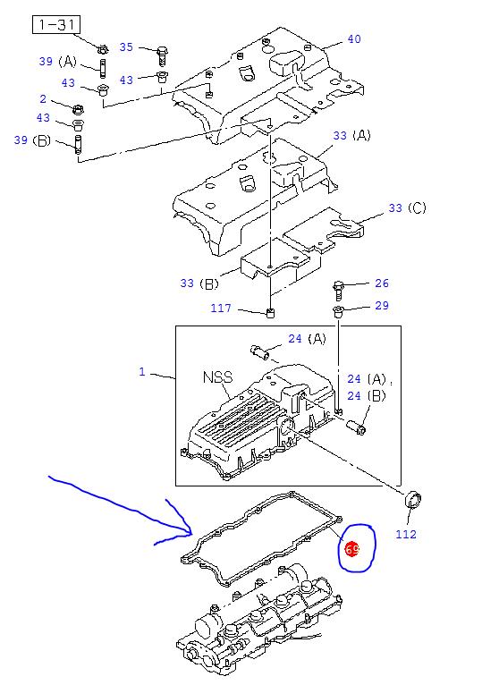 Cam Cover Gasket - Isuzu Trooper 3.0, 4JX1