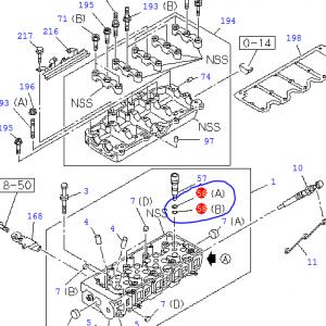 Injector Sleeve Seals – O-rings, Set – Isuzu Trooper 3.0, 4JX1
