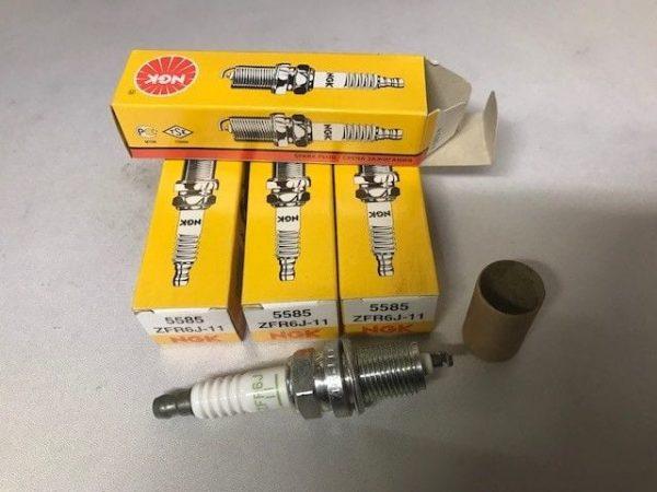 NGK ZFR6J-11 (5585) - Standard Spark Plug / Sparkplug (set of 4)