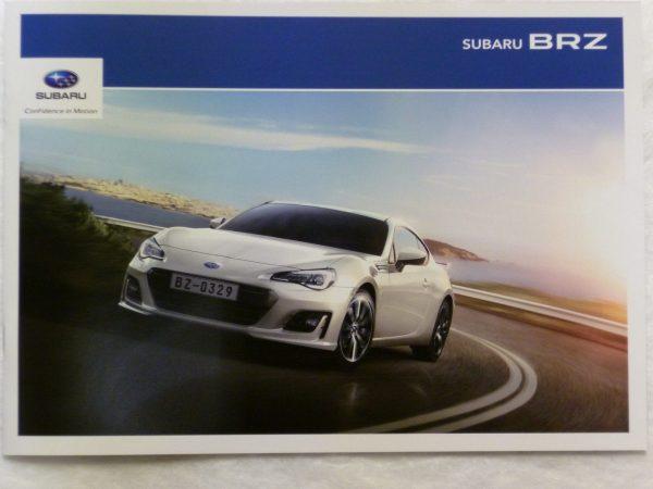 Subaru BRZ Vehicle and Accessory Brochure