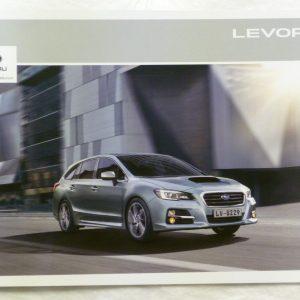Subaru Levorg Vehicle and Accessory Brochure