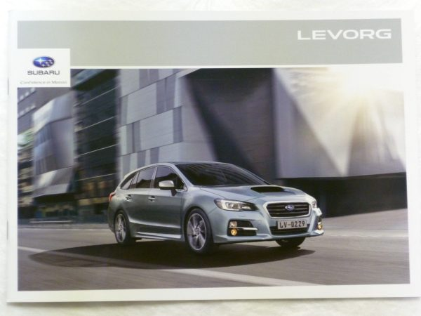 Subaru Levorg Vehicle and Accessory Brochure