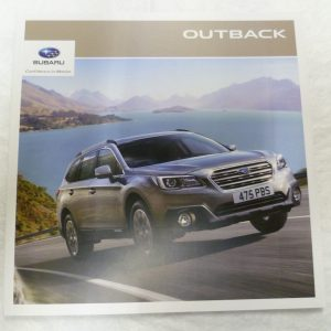 Subaru Outback Vehicle and Accessory Brochure