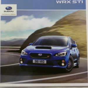 Subaru WRX STi Vehicle Brochure