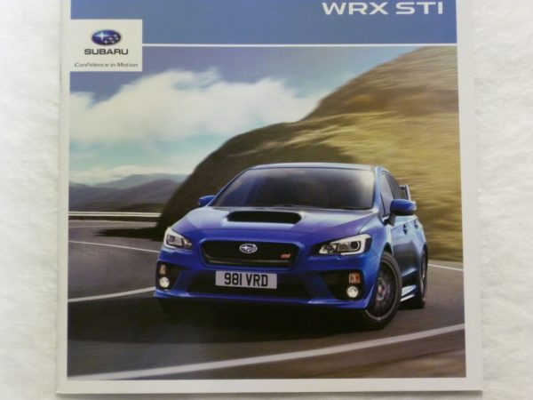 Subaru WRX STi Vehicle Brochure